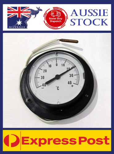 Coldroom Fridge Analog Thermometer Dial -40 +40 Degrees Capillary Cool Room