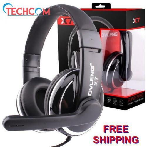 OVLENG X7 Stereo PC Gaming Headset Headphones for Skype online chat Mic 3.5mm