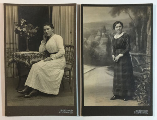 2 Victorian Cabinet Card Photographs By J Berthold Feuerbach