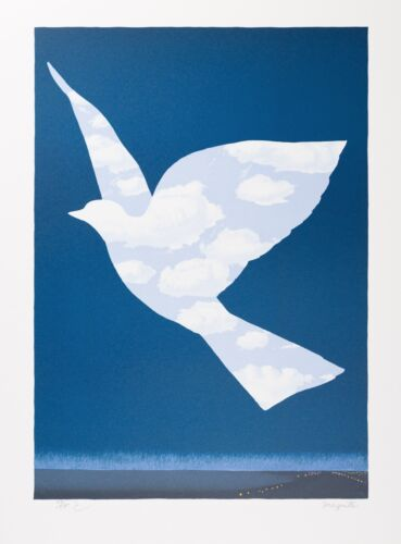 Rene Magritte - The Sky Bird (signed & numbered lithograph)