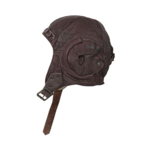 * ALL SAINTS * Aviator Hat, Brown Leather, Steampunk, Size M/L