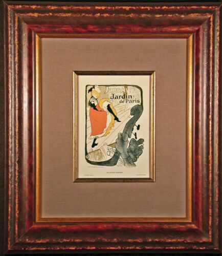 Jane Avril Limited Edition 1896 Color Lithograph after Toulouse-LAUTREC Framed