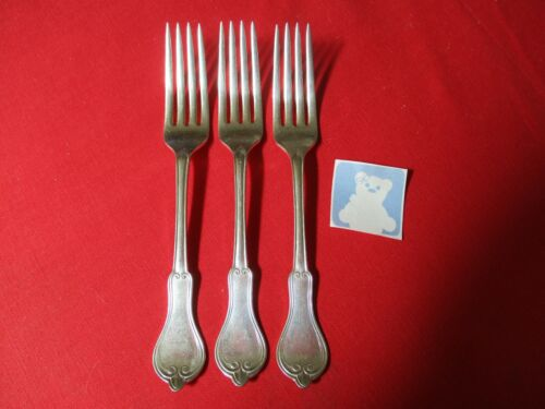 (3) Rogers IS Silverplate Dinner Forks, 1874 Gothic    #14