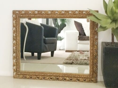 Antique Style Ornate Gold Wall Hanging Rectangle Mirror #751