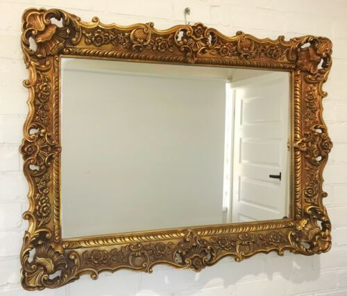 Antique Style Ornate Gold Wall Hanging Mirror #1513