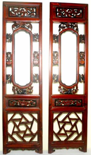 Antique Chinese Screen Panels (2669) (Pair) Cunninghamia wood, Circa 1800-1849