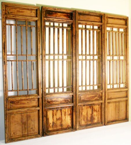 Antique Chinese Screen Panels (2908)(Temple Door), Cunninghamia Wood, 1800-1849