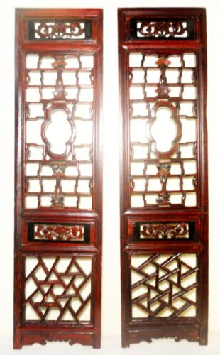 Antique Chinese Screen Panels (2822)(Pair), Cunninghamia Wood, Circa 1800-1849