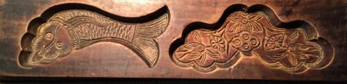 Antique Hand Carved Wooden Candy/Cookie/Cake Mold (7315), Circa Late of 1800
