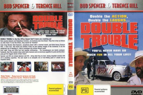 DOUBLE TROUBLE - Spencer & Hill  DVD-R ALL-N&S-Never played!-Original Oz release