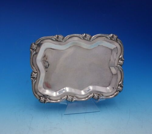 Water Lily by Camusso Peruvian Sterling Silver Business Card Tray (#4694)