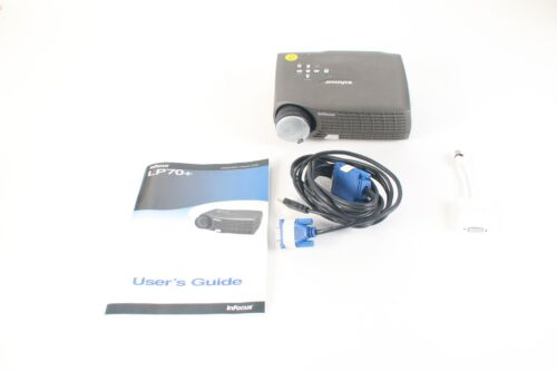 InFocus LP70+ Mini DLP Projector 213H W/ Protective Case and Manual