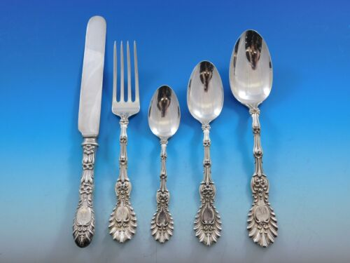 Radiant by Whiting Sterling Silver Flatware Set Dinner Service w/ Vintage Chest