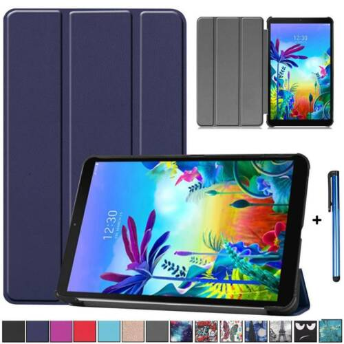 For LG G PAD 5 10.1 FHD LMT600 Magnetic Leather Flip Stand Case Cover Protector