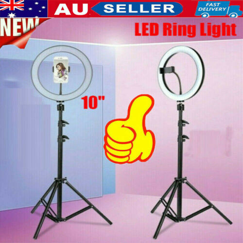 """10"""" Dimmable LED Ring Light Selfie MakeUp Lamp Video Lighting Phone Youtube Live"""