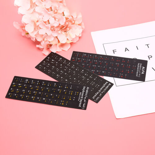 Arabic Keyboard Sticker letter Waterproof Frosted No Reflection Non-transparASE