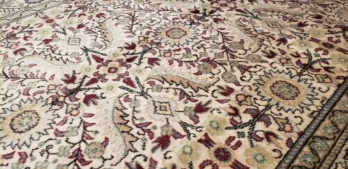 """Exquisite Antique 1940-1050's Wool Pile Natural Color Bunyan Area Rug 4'8""""×6'"""