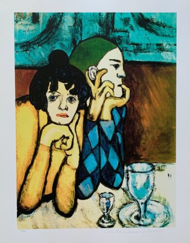 Pablo Picasso HARLEQUIN & COMPANION Estate Signed Stamped Limited Edition Giclee