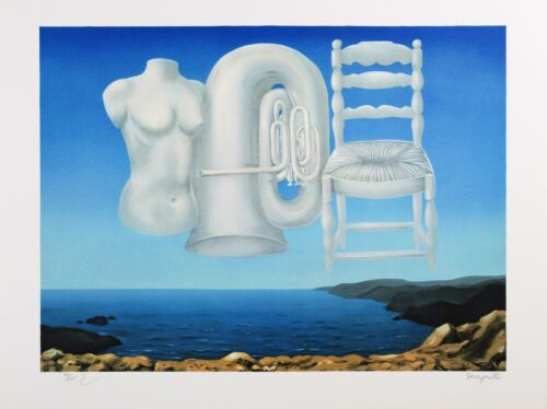 Rene Magritte - Threatening Weather (signed & numbered lithograph)