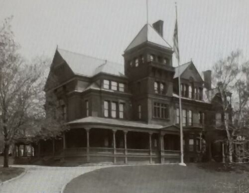 1925 View of The Executive Mansion in Albany New York Magic Lantern Glass Slide