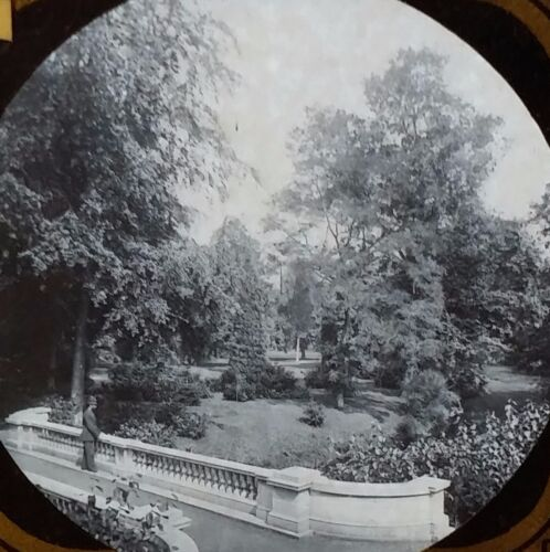 The Grounds of Frogmore Estate, London, England, Magic Lantern Glass Slide