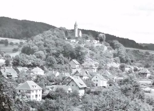 City of Lorch, in Remstal, Germany,Magic Lantern Glass Slide