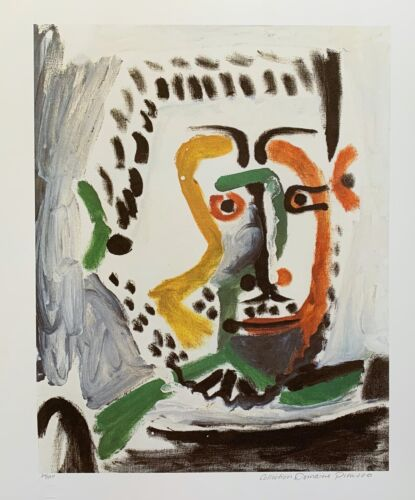 Pablo Picasso MAN'S HEAD Estate Signed & Stamped Limited Edition Large Giclee