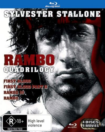Rambo Complete Collection (Blu-ray) 1 2 3 Quadrilogy 4 Movies Blue New Sealed AU