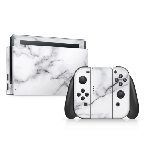 White Marble III Skin Sticker to Cover Nintendo Switch Made in Australia