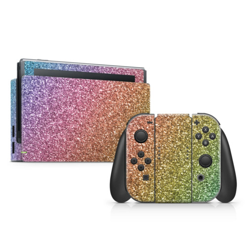 Rainbow Ombre Skin Sticker to Cover Nintendo Switch Made in Australia
