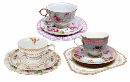 Chic 3pc. Gift Set - Cup, Saucer & Plate Trio (Gift Boxed) -3 assorted-AU Seller
