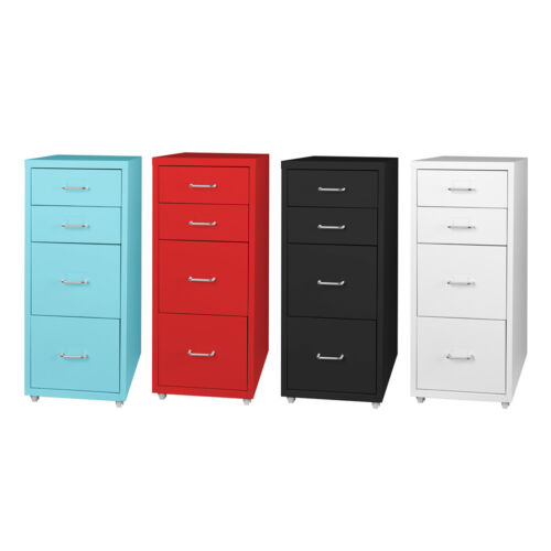 Filing Cabinet Storage Cabinets Steel Metal Home School Office Organise 4 Drawer