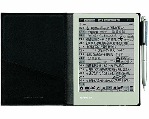 Sharp Electronic Memo Pad Handwriting Notebook WG-S30-B Black NEW from Japan