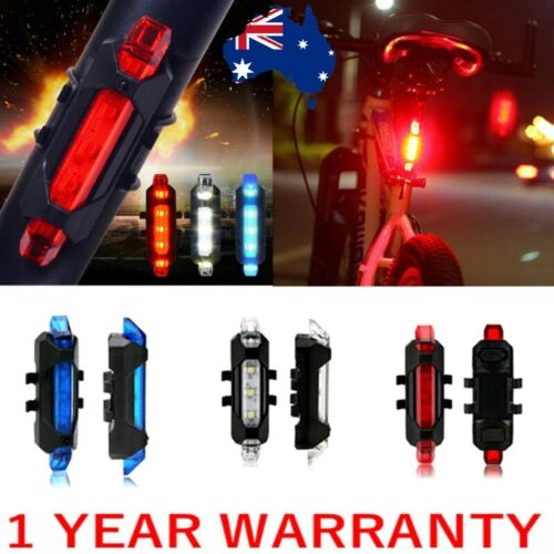 NEW LEDs Bike USB Front Rear Light Bicycle Cycling Rechargeable Tail Warning Lam