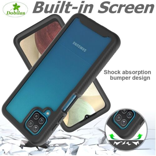 Built-in Screen Protector Shockproof Rugged Armour Case Cover For Samsung Galaxy
