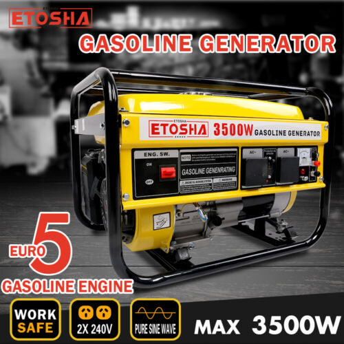 ETOSHA Gasoline Generator 3.5kVA Pure Sine Wave Portable Single Phase Camping <br/> Limited Time Deal Ends on 28/2!