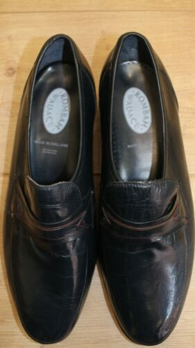 Mocassins loafers ROMBAH WALLACE NEUF cuir gris 9UK 43FR 27,7 cm made in England