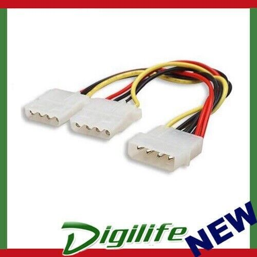 """Astrotek Internal Power Molex Cable 20cm - 5.25"""" 4 pins Male to 2x 5.25"""" 4 pins"""