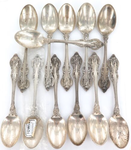 ".1964 SUPERB MATCHING SET 12 TOWLE ""EL GRANDEE"" STERLING SILVER FRUIT SPOONS."
