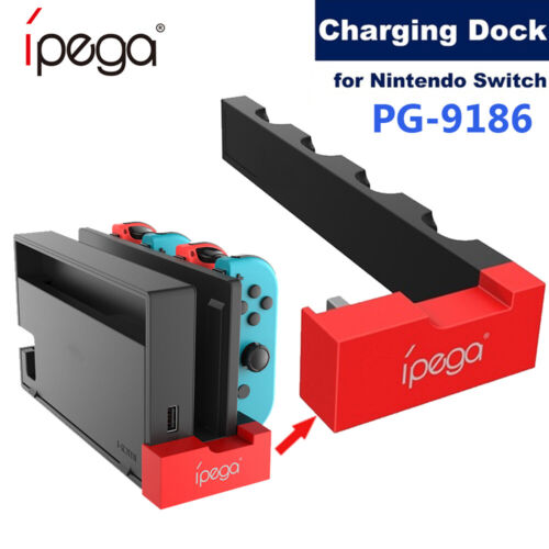 For Nintendo Switch Joy-Con Controller 4 Ports USB Charger Charging Dock Station