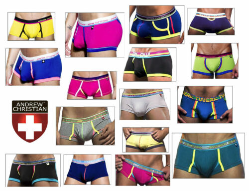 Andrew Christian Mens XLarge Boxer Underwear Male Undies Many Colours Designer