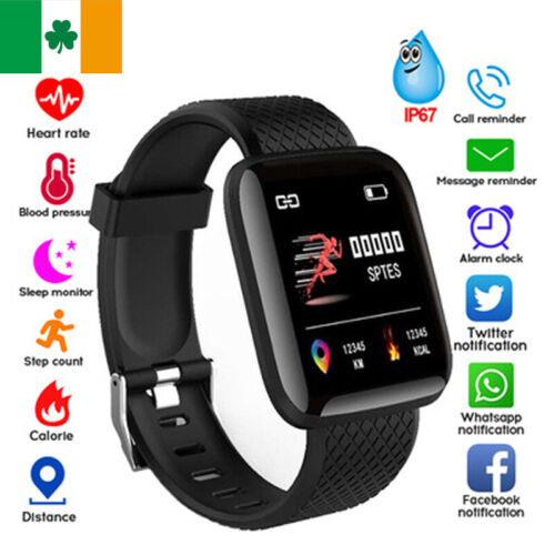 Smart Watch Heart Rate Blood Pressure Monitor Fitness Tracker Android / iOS