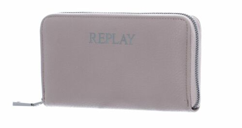 REPLAY Gusset Wallet with Zipper Dark Sand