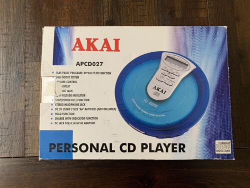 AKAI Personal CD Compact Disc Player - APCD027 - Boxed