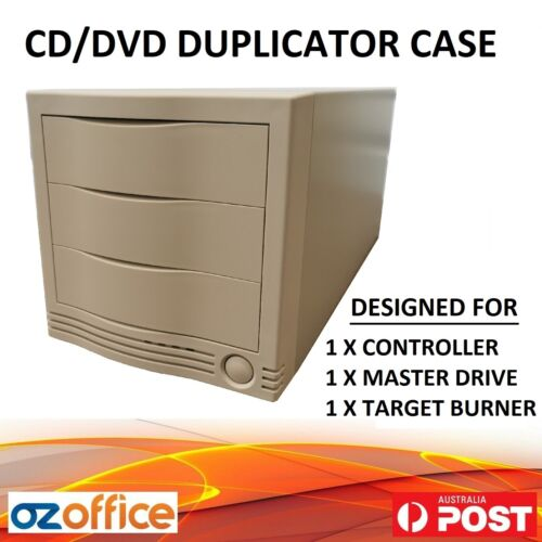 1 to 1 CD DVD Duplicator Case Tower - Includes Power Supply Unit