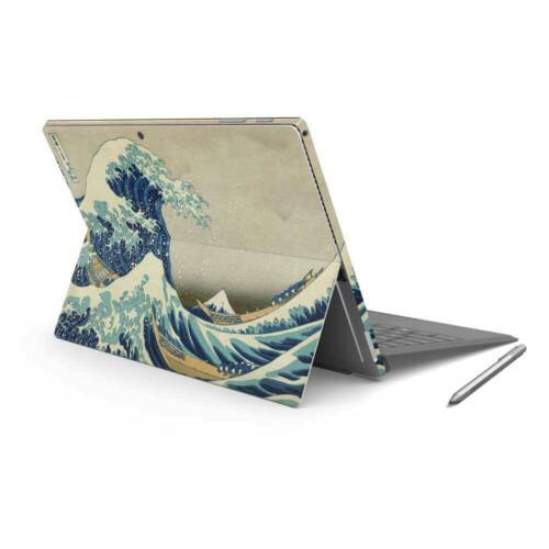 The Great Wave Vinyl Skin Sticker Wrap to Cover Surface Pro 7 Back & Sides