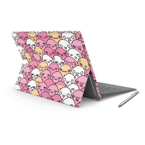 Kawaii Crowd Vinyl Skin Sticker Wrap to Cover Surface Pro 7 Back & Sides