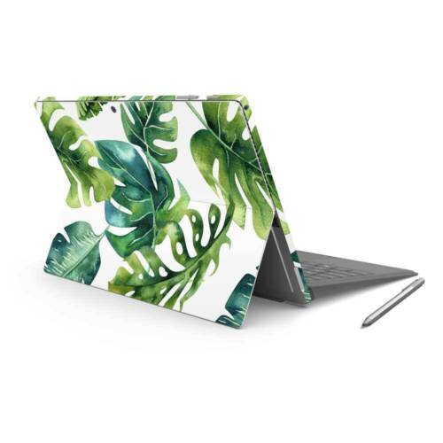Palm Leaves Vinyl Skin Sticker Wrap to Cover Surface Pro 7 Back & Sides