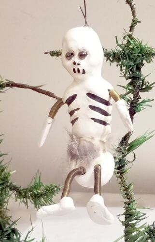 Composition Skeleton with Spring Arms & Legs. Xmas. Japan. Halloween Ornament