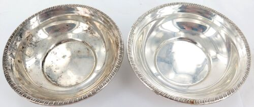 MATCHING PAIR USA STERLING SILVER BOWLS. UNKNOWN MAKER.